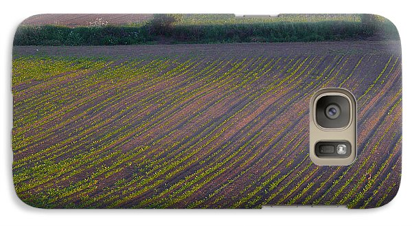 Galaxy Case featuring the photograph Purple Fields by Evelyn Tambour