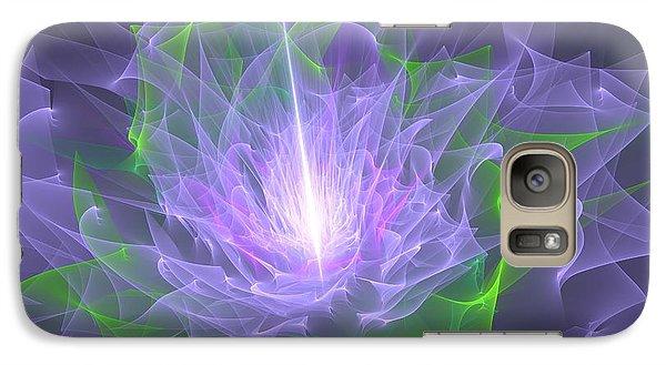 Galaxy Case featuring the digital art Purple Flame by Svetlana Nikolova