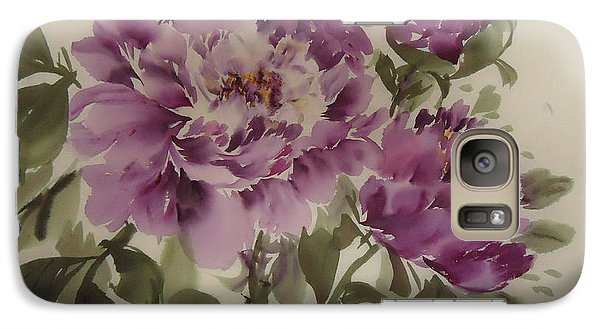 Galaxy Case featuring the painting Purple Flower by Dongling Sun
