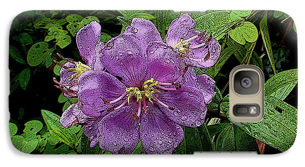 Galaxy Case featuring the photograph Purple Flower by Sergey Lukashin