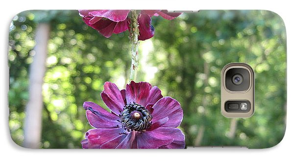 Galaxy Case featuring the photograph Purple Flowers by HEVi FineArt