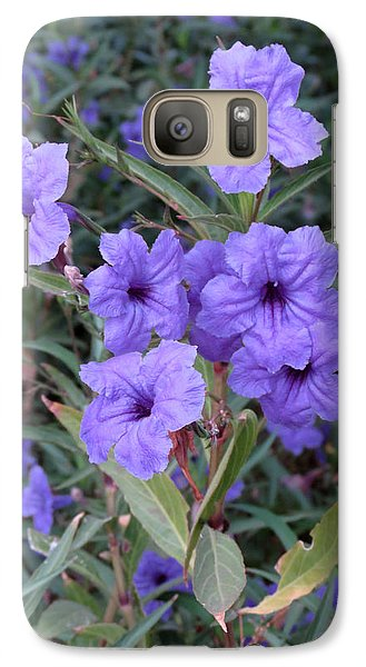 Galaxy Case featuring the photograph Purple Flowers by Laurel Powell