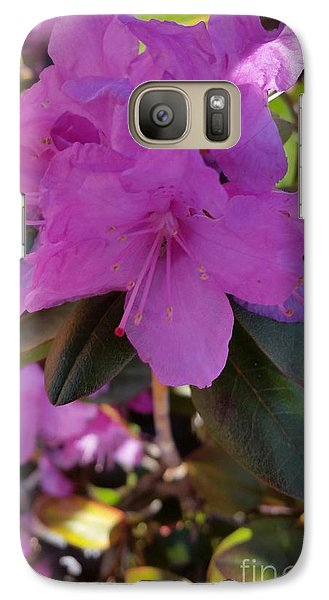 Galaxy Case featuring the photograph Purple Flowers by Rose Wang