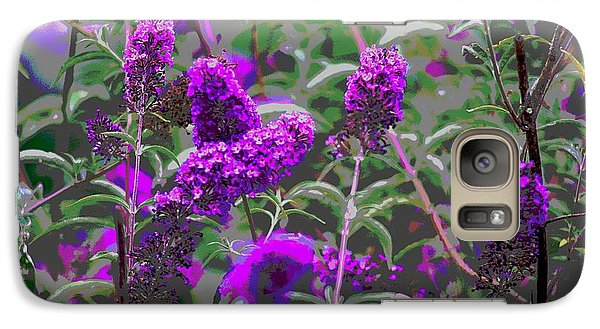 Galaxy Case featuring the photograph Purple Flowers by Suzanne Powers