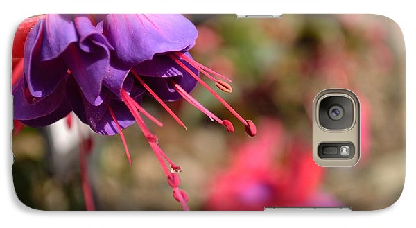 Galaxy Case featuring the photograph Purple Fuchsia by Scott Lyons