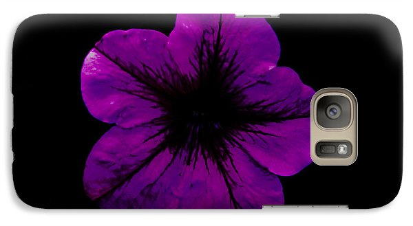 Galaxy Case featuring the photograph Purple Geranium by Scott Lyons