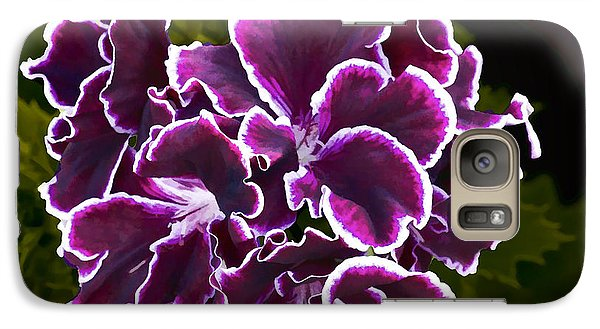 Galaxy Case featuring the digital art Purple Gernaium by Photographic Art by Russel Ray Photos