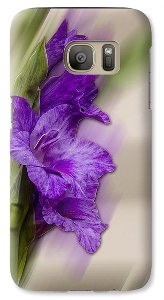 Galaxy Case featuring the photograph Purple Gladiolus by Patti Deters