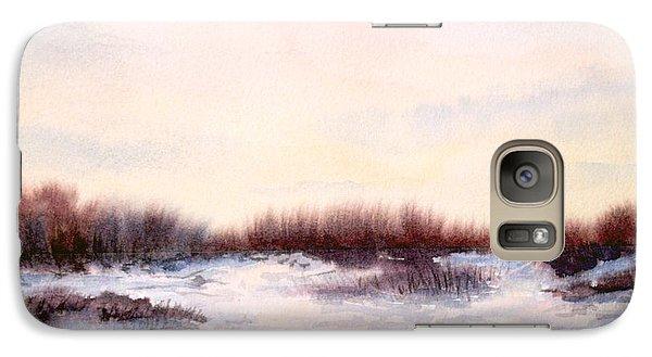 Galaxy Case featuring the painting Purple Haze by Vikki Bouffard