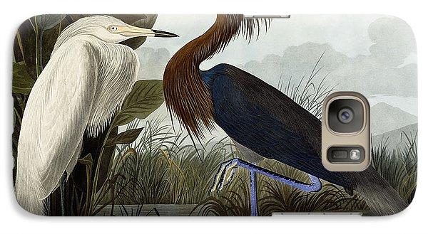 Purple Heron Galaxy Case by John James Audubon