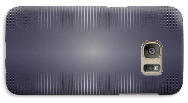 Galaxy Case featuring the digital art Purple Horizon by Kevin McLaughlin