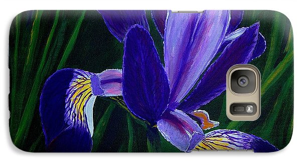 Galaxy Case featuring the painting Purple Iris by Barbara Griffin