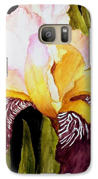 Galaxy Case featuring the painting Purple Iris by Carol Grimes