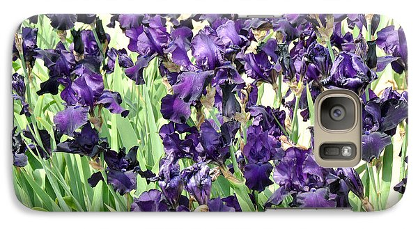 Galaxy Case featuring the photograph Purple Iris by Diane Lent