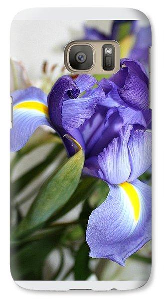 Galaxy Case featuring the photograph Purple Iris by Ellen O'Reilly