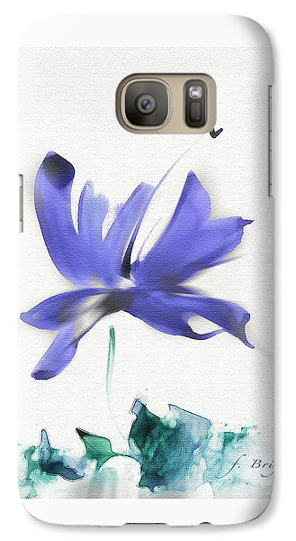 Galaxy Case featuring the mixed media Purple Iris In The Greenery by Frank Bright