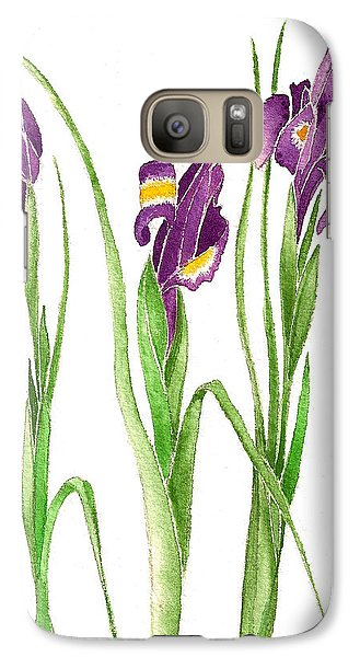 Galaxy Case featuring the painting Purple Iris  by Nan Wright