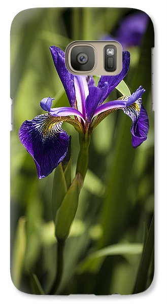 Galaxy Case featuring the photograph Purple Iris by Penny Lisowski
