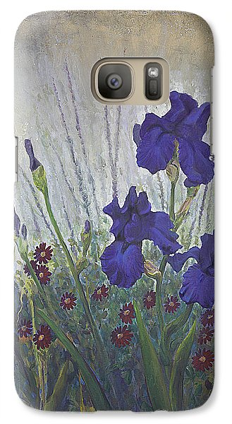 Galaxy Case featuring the painting Purple Iris by Rob Corsetti