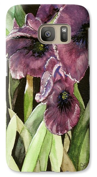 Galaxy Case featuring the painting Purple Irises by June Holwell