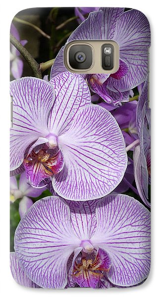 Galaxy Case featuring the photograph Purple Ladies by Cindy McDaniel