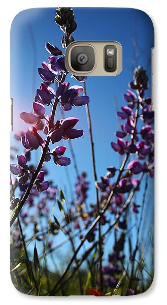 Galaxy Case featuring the photograph Purple Lupine by Richard Stephen