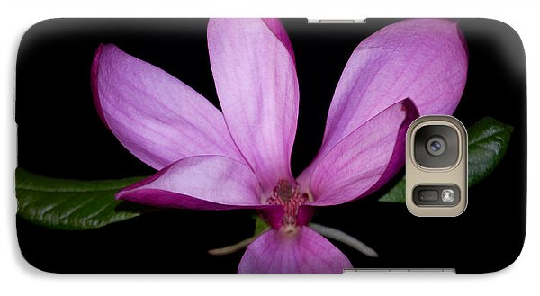 Galaxy Case featuring the photograph Purple Magnolia by Nancy Bradley