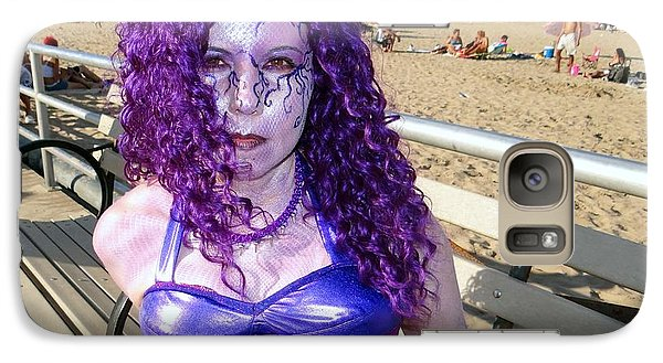 Galaxy Case featuring the photograph Purple Mermaid by Ed Weidman