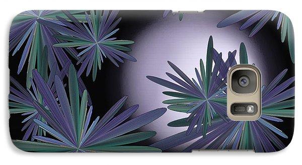 Galaxy Case featuring the digital art Purple Moon by Linda Whiteside