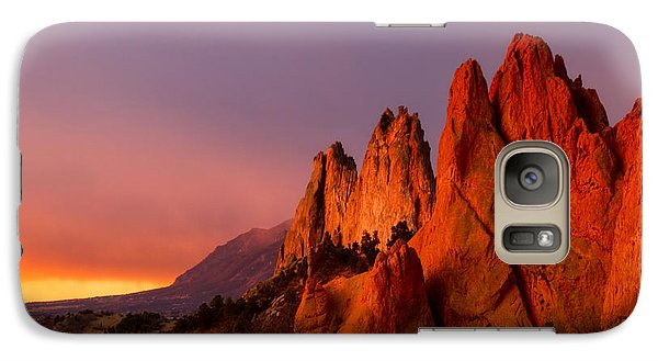 Galaxy Case featuring the photograph Purple Morning At Garden Of The Gods by Ronda Kimbrow