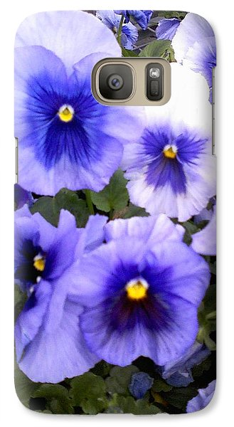 Galaxy Case featuring the photograph Purple Morning Glory by Fortunate Findings Shirley Dickerson