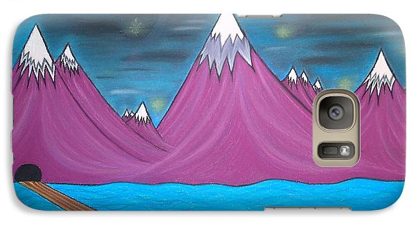 Galaxy Case featuring the pastel Purple Mountains by Robert Nickologianis