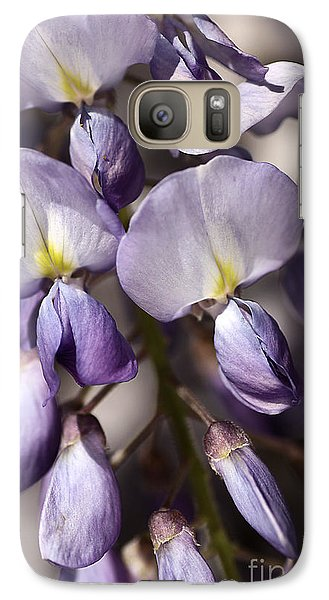 Galaxy Case featuring the photograph Purple Of Wisteria by Joy Watson