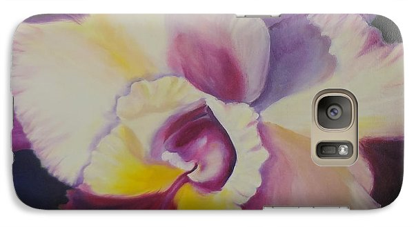 Galaxy Case featuring the painting Purple Orchid by Jenny Lee