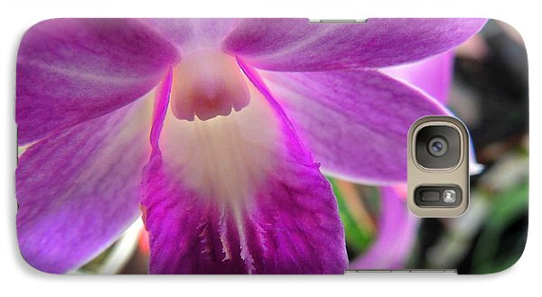 Galaxy Case featuring the photograph Purple Orchid by Kristine Merc