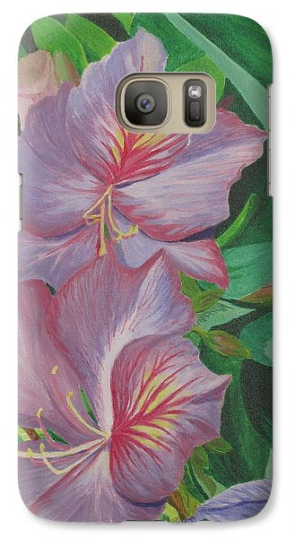 Galaxy Case featuring the painting Purple Orchid Tree by Hilda and Jose Garrancho