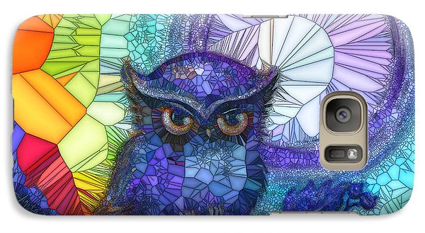 Galaxy Case featuring the painting Owl Meditate by Agata Lindquist