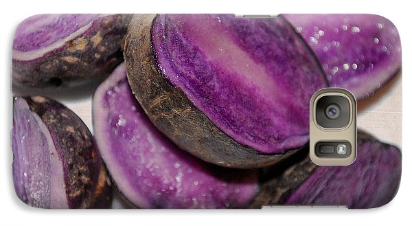 Galaxy Case featuring the photograph Purple Passion by Linda Segerson