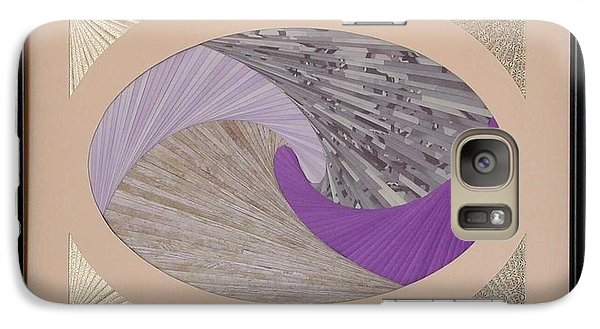 Galaxy Case featuring the mixed media Purple Passion by Ron Davidson