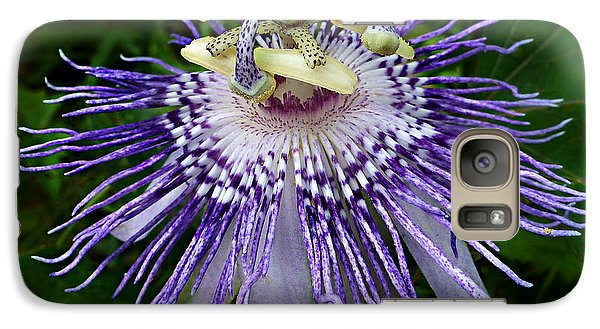 Galaxy Case featuring the photograph Purple Passionflower by William Tanneberger