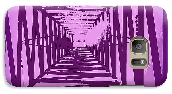 Galaxy Case featuring the photograph Purple Perspective by Clare Bevan