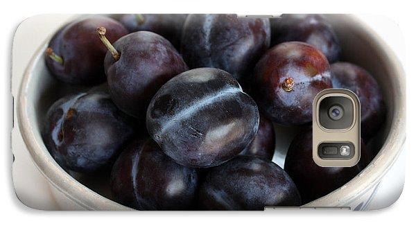 Galaxy Case featuring the photograph Purple Plums by Gerry Bates