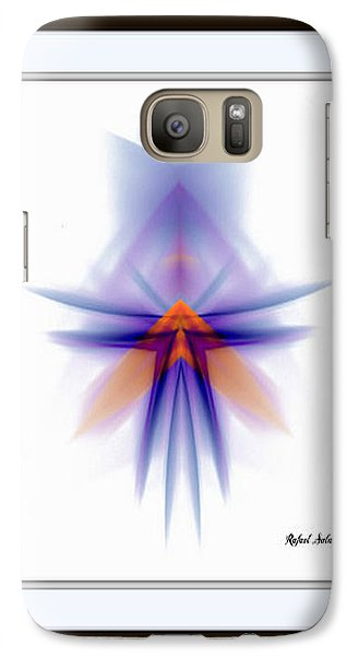 Galaxy Case featuring the painting Purple Rain by Rafael Salazar