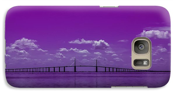 Galaxy Case featuring the photograph Purple Rain by Randy Sylvia