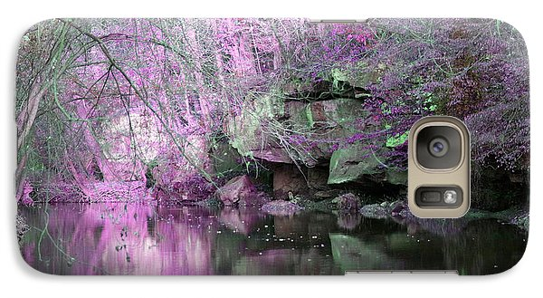 Galaxy Case featuring the photograph Purple Rock Reflection by Lorna Rogers Photography