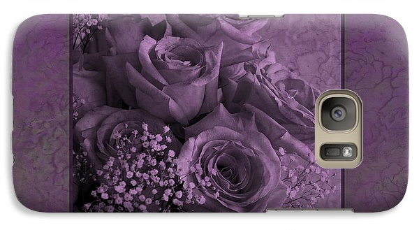 Galaxy Case featuring the photograph Purple Roses Delight by Sandra Foster