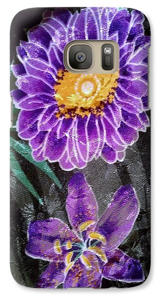 Galaxy Case featuring the photograph Purple Silk by Fortunate Findings Shirley Dickerson