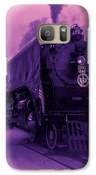 Galaxy Case featuring the photograph Purple Smoke by Bartz Johnson