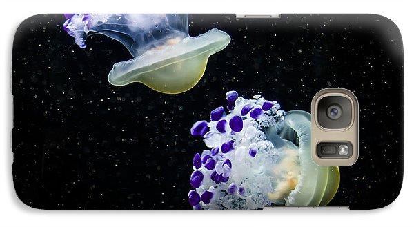 Purple Spaceships Galaxy S7 Case