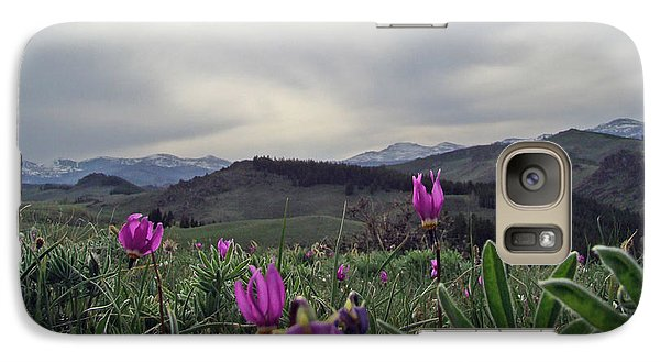 Galaxy Case featuring the digital art Purple Spring In The Big Horns by Cathy Anderson